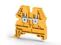 AVK4 Клеммник на DIN-рейку 4мм.кв. (желтый) Klemsan, 304133