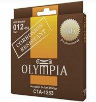 Olympia CTA 1253 Струны для акустической гитары, Coated 80/20 Bronze,12-53