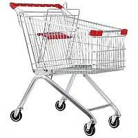 Тележка для покупок STE 100 с детским сиденьем. Европейский тип объем корзины 100 литров. Покупательская тележка для магазина и супермаркета.
