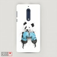 Чехол Пластиковый на Nokia 5 Панда боксер