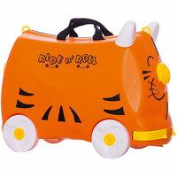 Детский чемодан Trunki Tipu the Tiger (Тигр, оранжевый Транки) Tevin Kids пластиковый противоударный KIDS0122