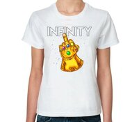 Женская футболка Все Футболки Инфинити фак (infinity) женская футболка с коротким рукавом белая