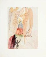 Гравюра Les Heures Claires Торжество Христа и Девы Марии. Сальвадор Дали. Серия Божественная комедия, 1959-1963 гг
