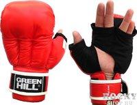 Green Hill Перчатки для рукопашного боя Green Hill, красные Green Hill