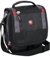 Сумка мужская через плечо WENGER 1092239 Mini Boarding Bag, черный/серый
