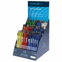 Ручки в дисплее шариковые автоматические SCHNEIDER K20 Icy Colours, комплект 100 шт., синие, узел 1 мм, 304262#S SCHNEIDER