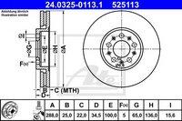 Передний тормозной диск Ate 24032501131
