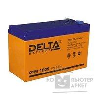 Delta DTM 1209 9 А ч, 12В свинцово- кислотный аккумулятор