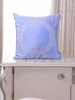 Подушка декоративная с вышивкой и кантом FLAUM HOME/флаум хоум, Лёд, 50х50
