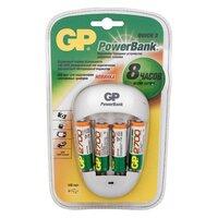 AA Аккумулятор + зарядное устройство GP PowerBank PB27GS270, 4 шт. 2700мAч