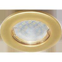 Светильник встраиваемый Ecola Light MR16 DL90 GU5.3 плоский Перламутровое золото 30x80 FN1611EFY