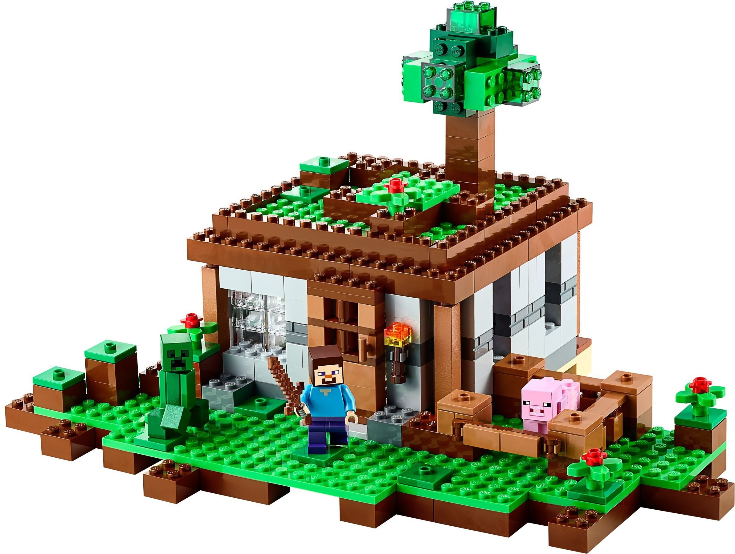Как сделать домик из лего майнкрафт видео