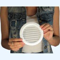 Решетка вентиляционная пластиковая круглая Vents МВ 100 бВС белая