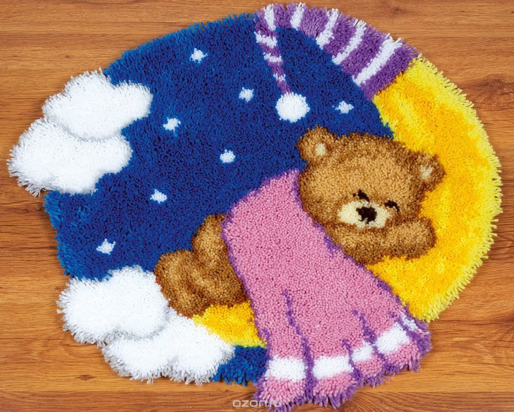 Вышивка крючком ковров 10