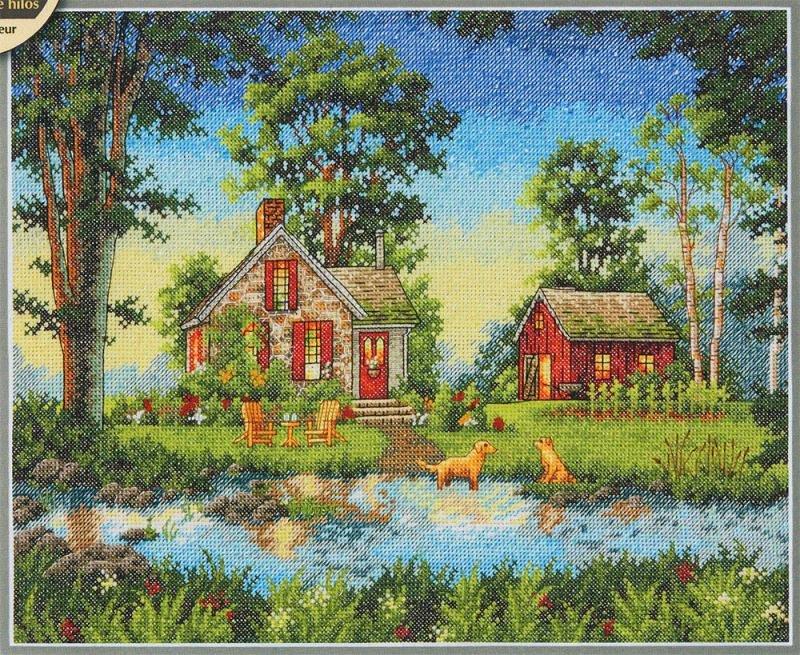 Вышивка dimensions cottage