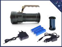 Ручной металлический фонарь 3-ACR аккумуляторный прожектор