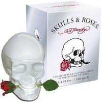 Парфюмерная вода Тестер Ed Hardy Skulls and Roses for Her для женщин 100 мл - парфюм череп и роза женские