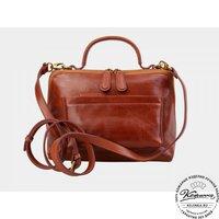 Женская кожаная сумка Крис (коньяк)