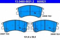 Передние колодки Ate 13046058212 с звуковым предупреждением износа