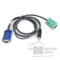Aten 2L-5203U Кабель KVM USB тип А Male +HDB15 Male  SPHD15 Male 3,0м., черный.