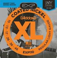 D`ADDARIO EXP110 COATED NICKEL WOUND LIGHT 10-46 струны с полимерным покрытием для электрогитар, никелерованная…