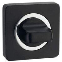 Завертка квадр. к ручкам ренц BK 02 BIG B/CP, чёрный/хром