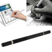 Стильный стилус с ручкой 2 в 1 для любых емкостных дисплеев iPhone / iPad / Samsung / HTC и др. (Black)