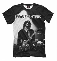 Футболка Print Bar Foo Fighters (MZK-259867-fut-2-XXXL)