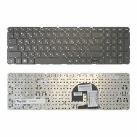 Клавиатура TopOn HP Pavilion DV7-4000, DV7-5000 Series. Плоский Enter. Без рамки. PN: NSK-HS0UQ 01, 9Z.N4DUQ.001., TOP-86693, черный
