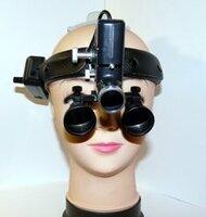 Бинокулярная лупа с подсветкой Magnifier QC Optic x3,5-420HL-5