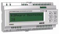ПЛК63 контроллер с HMI для локальных систем в корпусе на DIN-рейку с AI/DI/DO/AO Овен Программируемый логический контроллер ПЛК63-РРККУУ-М