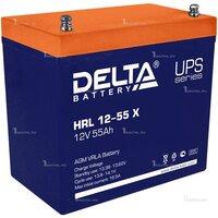 Аккумулятор DELTA HRL 12-55 X (12В, 55Ач / 12V, 55Ah / вывод под болт М6) (UPS серия)