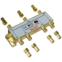 TV делитель краб Rexant GOLD 6TV + 7шт. F BOX, 5-1000МГц
