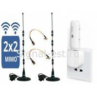 Усилитель интернет сигнала 3G/4G/LTE MODMW-22 для дачи в дом офис в автомобиль.