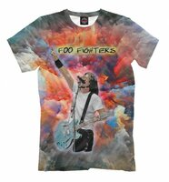Футболка Print Bar Foo Fighters - Dave Grohl (Painty) (MZK-725351-fut-2-S)