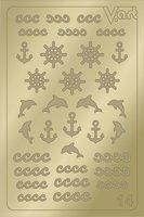LAV, Металлизированные наклейки 014, золото