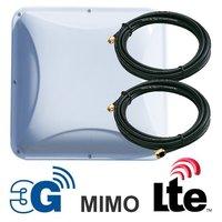 Панельная направленная Антенна MIMO 3G / 4G LTE, 14-15 дБ (1700-2700 МГц)