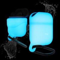 Водонепроницаемый чехол для AirPods Elago Waterproof hang case, цвет белый/nightglow blue (EAPWF-LUBL)