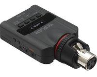 Tascam DR-10X портативный рекордер для журналистов, прямое XLR подключение к динамическим и электретным микрофонам без кабеля.
