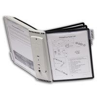 Система SHERPA настенная демонстрационная, с 10 панелями с табуляторами, 5 серых и 5 черных панелей