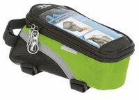 Сумочка-чехол-бокс велосипедная M-WAVE, для смартфона, 170х80х80 мм, с влагозащитой, черно-зеленая, 5-122555