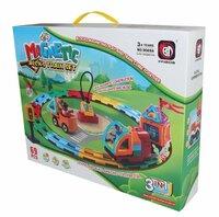 Электрическая железная дорога с магнитными игрушками 69 деталей 9069a