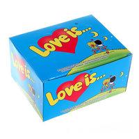 Жвачка Love is - клубника-банан (блок 100 шт)