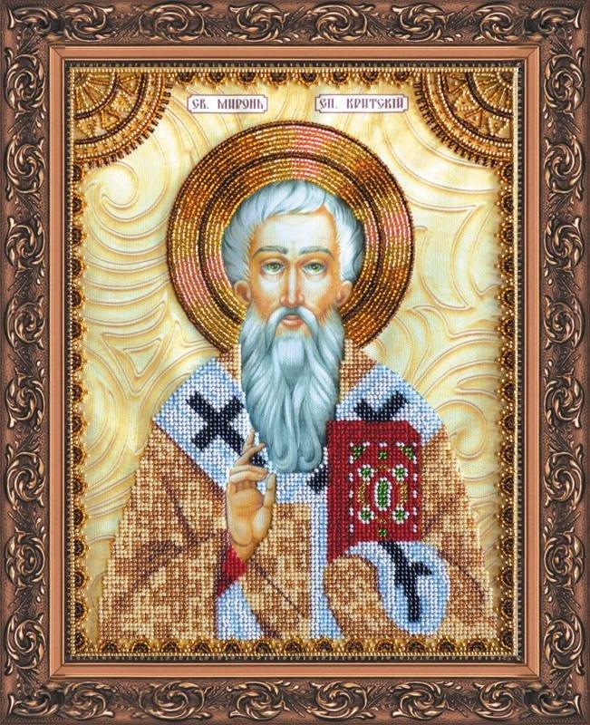 Шарбель святой вышивка бисером 68