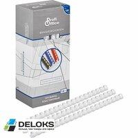 Пружины пластиковые ProfiOffice (А4, диаметр 14 мм, от 90 до 110 листов, белые, 100 штук в упаковке)