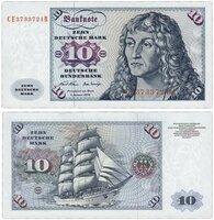 Банкнота Германия ФРГ 10 марок 1970 (Pick 31a) A331702a