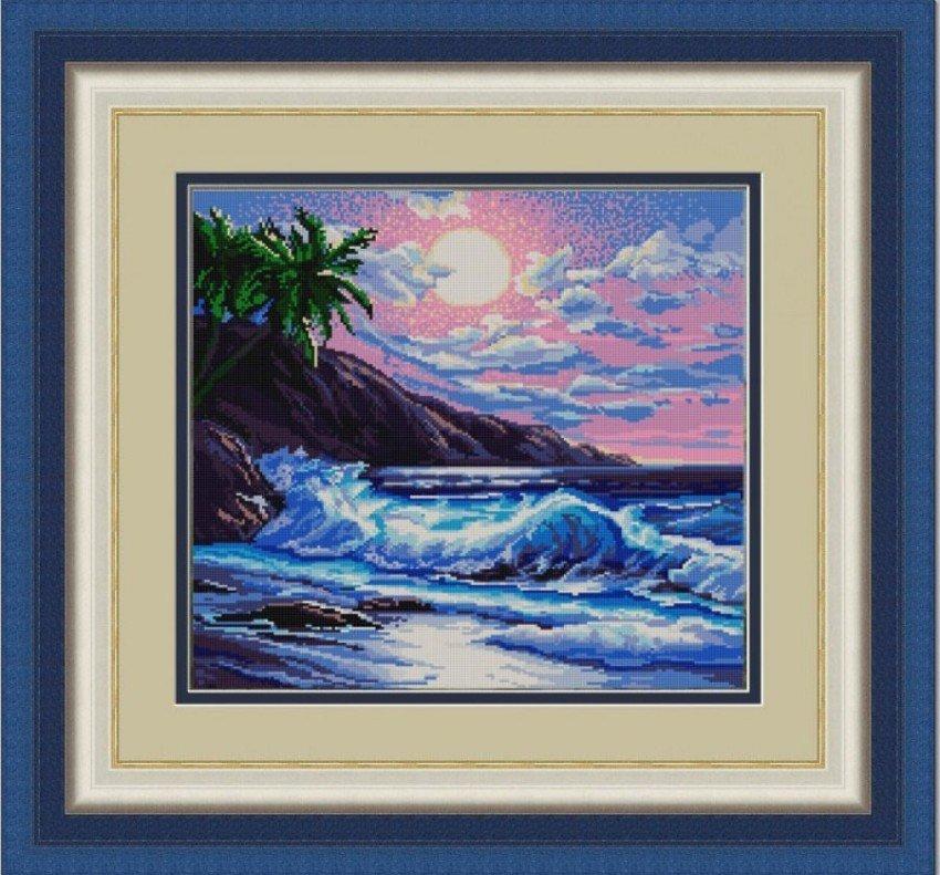 Вышивка бисером картины море 74