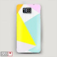 Чехол Пластиковый на Samsung Galaxy Alpha Геометрия 22