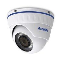 Купольная вандалозащищенная IP видеокамера Amatek AC-IDV203ZA (2,7-13,5)
