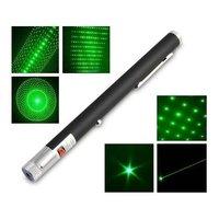 Лазерная указка Lazer Pointer зеленая 200 мВт, 5 насадок